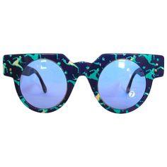 1990s sunglasses EYES SWATCH Blue