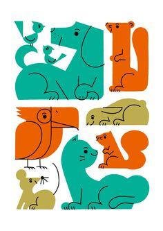 Illustration, animals, shunsuke satake in Illustration