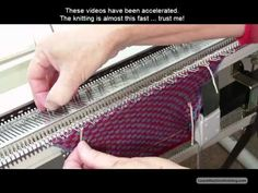 Machine knit a gauge swatch in less than 10 Minutes!