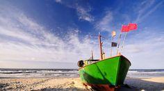 boat beach wallpaper download