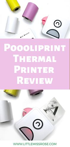 Everything you need to know about the poooliprint thermal printer is here!  Find out what it's great for your bullet journal! Cute Notes, Thermal Printer, Print Your Photos, Clear Stickers, Cute Doodles, Group Boards, Black N White Images, Good And Cheap, Little Boxes