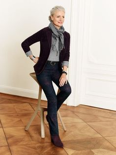 Chic Outfits For 50 Year Olds: SILVER   Agence de Top Modèles de plus de 40 ans   Paris   Grey    ,