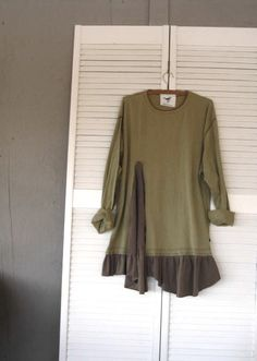 Romantic Lagenlook Tunic upcycled clothing by lillienoradrygoods,