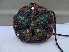 Mary Frances Butterfly & Beaded Purse/Handbag