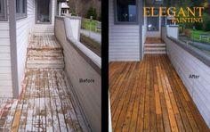 Deck Refinishing, Kitchen Shelves, Garage Doors, Stairs, Elegant, Outdoor Decor, Painting, Seattle, Home Decor