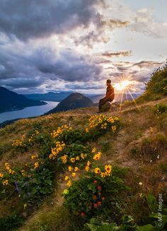 The hike up Dog Mountain on the Washington side of the Columbia River Gorge is popular for a reason.  Here a hiker has it to himself.