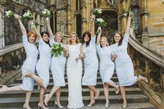 Liberty Print themed Wedding day - bridesmaid dresses and centre pieces