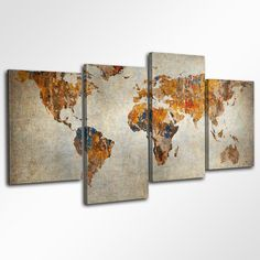 Awesome World Map Canvas