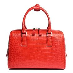 Classic alligator leather barrel handbag top-handle bag purse for women. This Alligator Leather Barrel Handbag has been designed in such a way there is enough space to carry all the products that you need. Satchel Handbags, Purses And Handbags, Leather Handbags, Leather Bags, Best Baby Bags, Bvlgari Handbags, Crocodile Handbags, Leather Pillow, Leather Accessories