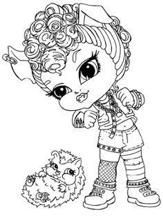 monster high howleen wolf was a kid coloring pages