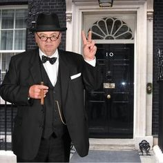 Winston Churchill look a like for hire. Our Winston Churchill is available for hire in London and around the UK.Perfect for Royal and British themed events.