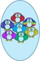 owl clipart set