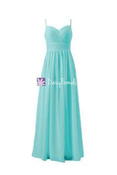 ae7d9fc8091d Full Length Turquoise Blue Chiffon Party Dress Long Sweetheart Neckline  Formal Dress (BM29023)