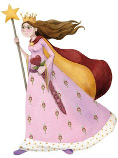 Monica Carretero Illustration - monica carretero, traditional, paint, painted, watercolour, ink, watercolor, picture book, fiction, educational, commercial, trade, people, woman, lady, ladies, women, girls, children, princesses, queens