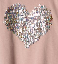 Sequinned heart top - ZARA United States