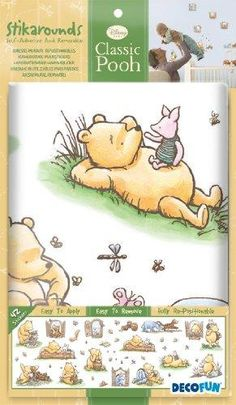 Decofun, Classic Winnie the Pooh Wall Stickers, Stikarounds | Babyhuddle