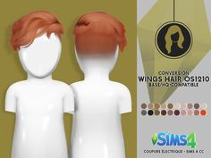 WINGS HAIR TS4 OS1210 M - TODDLER VERSION | CE - SIMS 4 CC