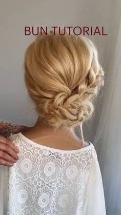 Easy Hairstyles For Long Hair, Fancy Hairstyles, Hairdos, Wedding Hair And Makeup, Hair Makeup, Medium Hair Styles, Curly Hair Styles, Bridal Hair Buns, Hair Upstyles