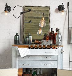 O.C. White lamps - a good look for the bar.