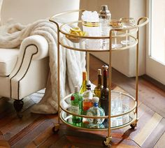 Tristan bar cart Potterybarn
