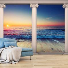 WALLPAPER XXL NON-WOVEN HUGE PHOTO WALL MURAL ART PRINT SEA BEACH c-C-0027-a-a in Home, Furniture & DIY, DIY Materials, Wallpaper & Accessories | eBay!
