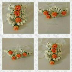 Bridesmaids bangles by bridal flower jewellery www.bridalflowerjewellery.weebly.com #mehndi #mehndijewellery #flowerjewellery #floraljewellery #bridalflowerjewellery