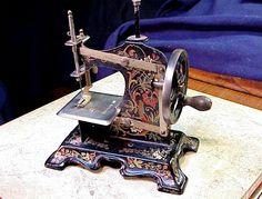 Beautiful Little Antique German Toy Sewing Machine | eBay