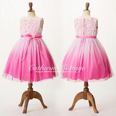 子供ドレス 巻き薔薇のグラデーションドレス 120 130 140 150 ブルードレス 青ドレス ピンク 子どもフォーマル 【キャサリンコテージ本店】 KD322