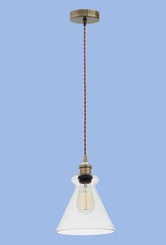 Antique Bronze Cord Pendant with Clear Glass - 1 x ES Width: Height: Cord: Ceiling Cup: Recommended Bulb: BULB 715 Glass, Bright Stars, Pendant Light, Lighting, Ceiling Lights, Home Lighting, Clear Glass, Bronze, Bulb