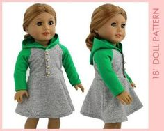 Doll dress pattern American girl doll by MyChildhoodTreasures by rhea