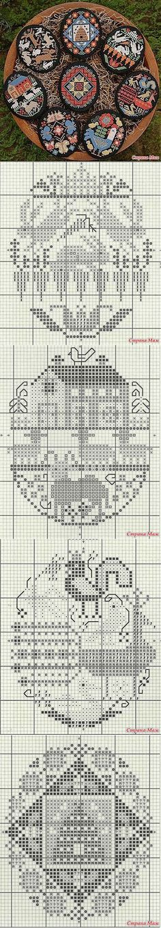 Easter egg cross stitch patterns, but it could easily be used for filet crochet as well.