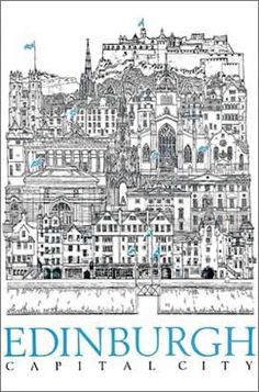 Architectural illustrations of Scottish and UK buildings