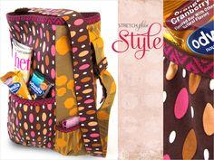 Boho Shoulder Bag with Elastic Accents | Sew4Home