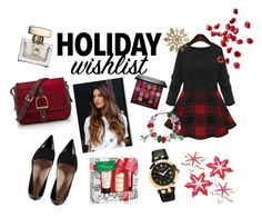 """""""Our Editor's Holiday Wishlist :)"""" by niceteen-magt ❤ liked on Polyvore featuring Bling Jewelry, Versace, Village England, Smashbox and philosophy"""