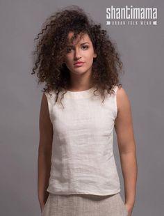 Washed Linen Top MIA Summer Linen Top Light Linen Blouse