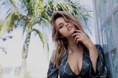 People 2048x1365 women model blonde long hair women outdoors face looking at viewer open mouth nose rings Debby Ryan actress singer cleavage palm trees glass sensual gaze no bra