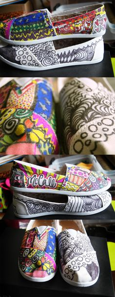 Need to try this out so cute- Doodle Drawings, Doodle Art, Doodle Shoes, Tie Dye Shoes, Crafts For Kids, Diy Crafts, Cool Style, My Style, Painted Shoes