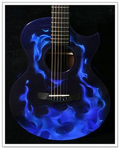 guitar acoustic fire flame - photo #21