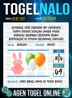 Pools JP 3D Togel Wap Online TogelNalo Mataram 30 Mei 2017