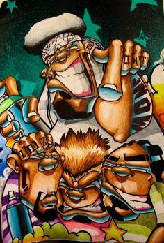 Mone e Celo street art ( #HipHop #graffiti )