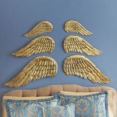 Angel wing decor from: Seventh Avenue