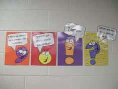 These pictures will make my lower grade students enjoy learning punctuation. I will put them on the writing board.