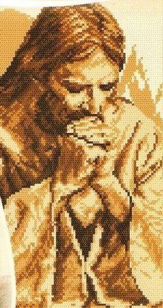♥Meus Gráficos De Ponto Cruz♥: Jesus Cristo + Símbolos Católicos em Ponto Cruz