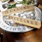 Game Greeting Centerpiece - 40 Easy Christmas Centerpiece Ideas | Midwest Living