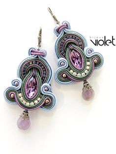 Soutache earrings. $59.00, via Etsy.