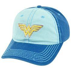 356e03b49e0 Amazon.com  DC Comics Wonder Woman Superhero Rhinestone Juniors Garment  Wash Velcro Hat Cap  Clothing