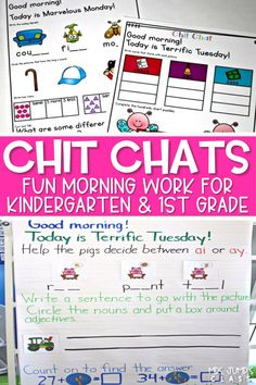 If you are teaching kindergarten, your students will love these Chit Chat Morning Messages. Each morning, students will complete the kindergarten printable worksheets, after looking at the teacher created anchor chart. It makes for simple and easy Kindergarten morning work!