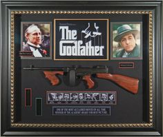 The Godfather Movie cast Signed Masterpiece Collage w/ Framed in Tommy Gun Godfather Movie, Al Pacino, It Movie Cast, Frame Display, How To Memorize Things, Entertaining, Pictures, Mancave Ideas, Amazon
