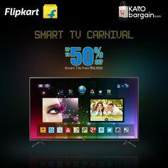 Amazing Smart #TV Carnival at @Flipkart with branded smart TVs available at discounted rates. Hurry!! #KaroBargain  https://www.karobargain.com/stores/flipkart/240180