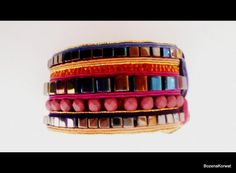 Oriental soutache bracelet by BozenaKorwatJewelry on Etsy